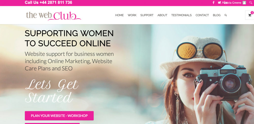 Image of The Web Club Home Page 2019 in post using 5 ways to improve website visibility